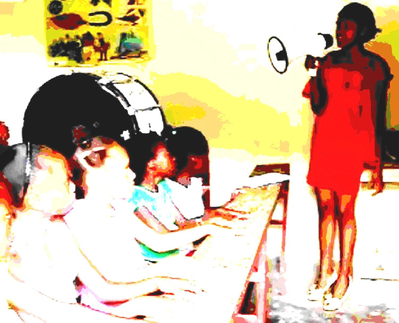 Schule-mit-Sprechtüte