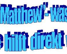 Von Matthew zur Schule